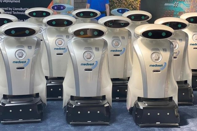 Two cleaning robots called Alex and Hanzel have joined hospital cleaning team