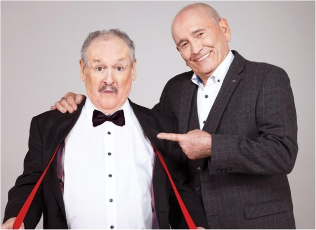 Comedian Bobby Ball (left) of Cannon and Ball has died at the age of 76.