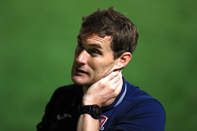 Exeter boss Matt Taylor. (Photo by George Wood/Getty Images)