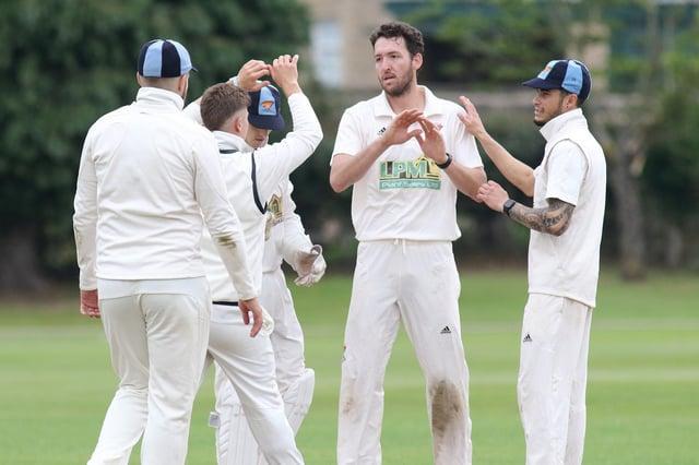 Cuckney celebrate a wicket for Paul Van Meekeren.