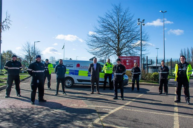 The new enforcement team helping to clean up Ashfield. Photo: Ashfield District Council.