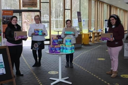 phs donated more than £200 worth of period products to Portland