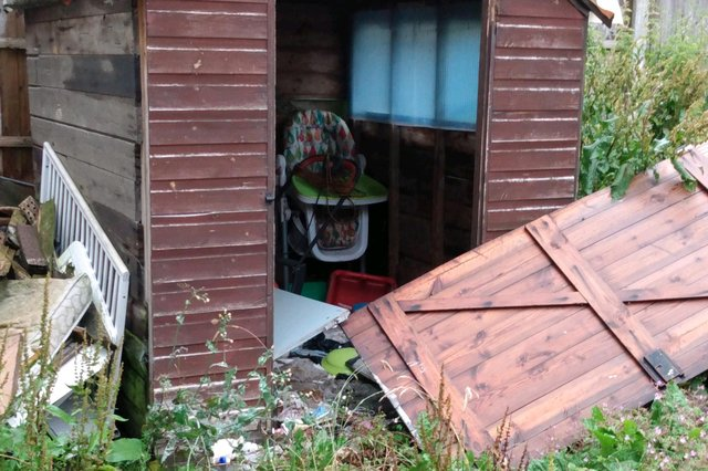 Kirkby woman Claire Blockley has been left several hundred pounds out of pocket afterignoring calls to clear up her messy garden. Photo: Ashfield District Council