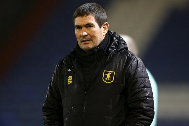 Nigel Clough, manager of Mansfield Town.