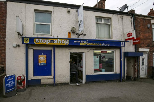 Witnesses say the boy's frantic parents had carried the lifeless tot into the StopnShop newsagents begging for help