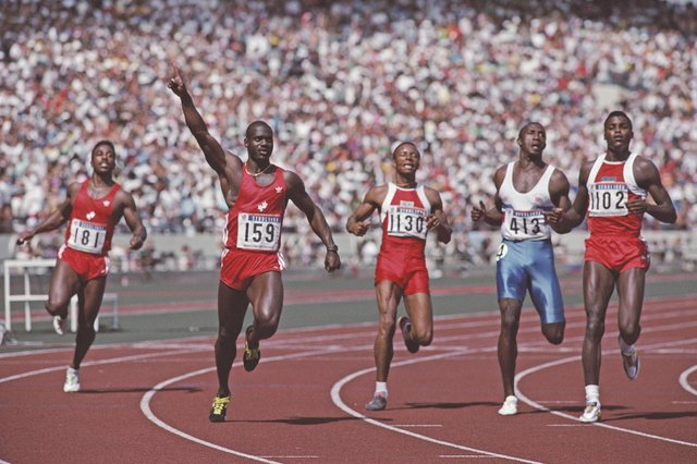 Drugs cheat Ben Johnson was thrown out of the 1988 Seoul Olympics. (Photo by Mike Powell/Allsport/Getty Images)