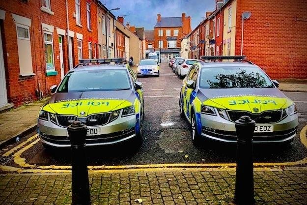 Two boys were arrested after they were spotted in possession ofa large knife in Sutton on Monday evening