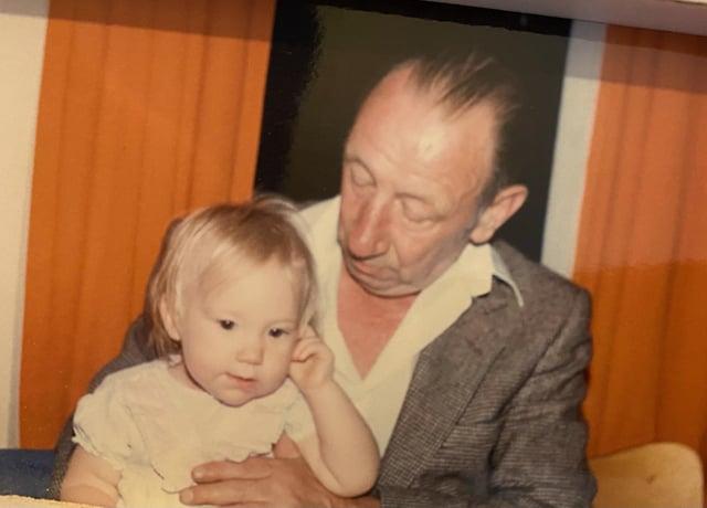 Kirstan Herriot with her coal miner grandad Arthur Herriot.