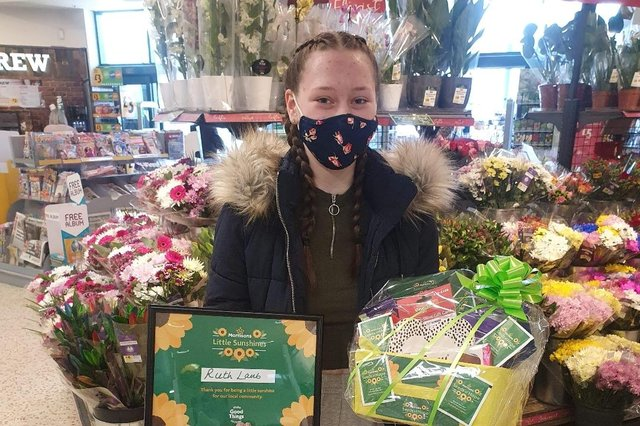 Ruth was presented with a chocolate hamper and gift voucher