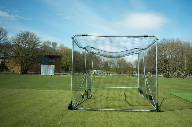 One of the damaged nets at Edwinstowe's historic cricket club.