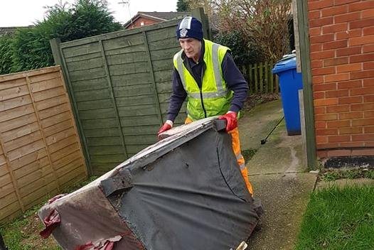 A Tidy Together bulky waste item being collected