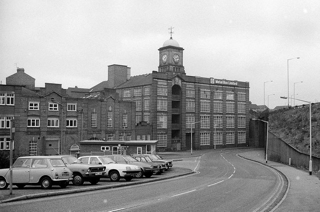 The Metal Box building was an imposing part of Mansfield's landscape until it was mostly demolished. All that remains now is the clock tower.
