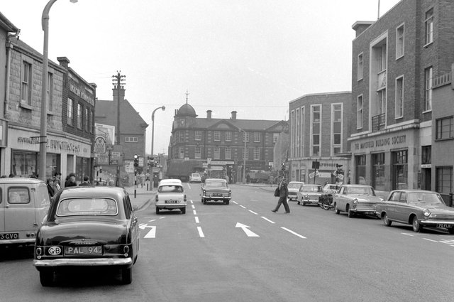 Clumber Street was previously a hive of activity with many shops on both sides of the road.
