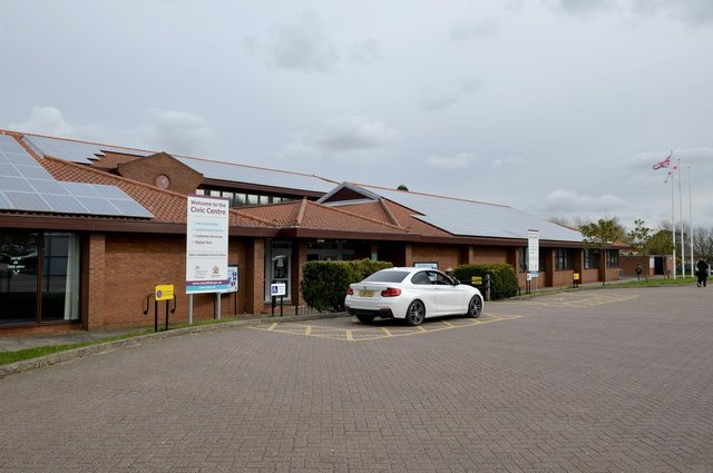 The Testing Site was in the car park of Mansfield Civic Centre