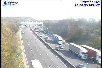Two lanes have been closed on the M1 northbound in Tibshelf to junction 29, which leads to the A617 due to a collision.