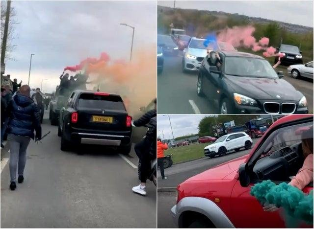A funeral procession went through Sheffield in memory of friends who were killed in an M1 crash.