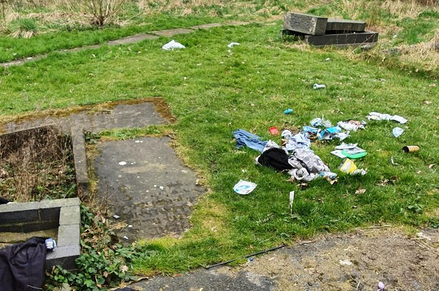 Some of the rubbish found in the grounds of St Mary's Church in Sutton.