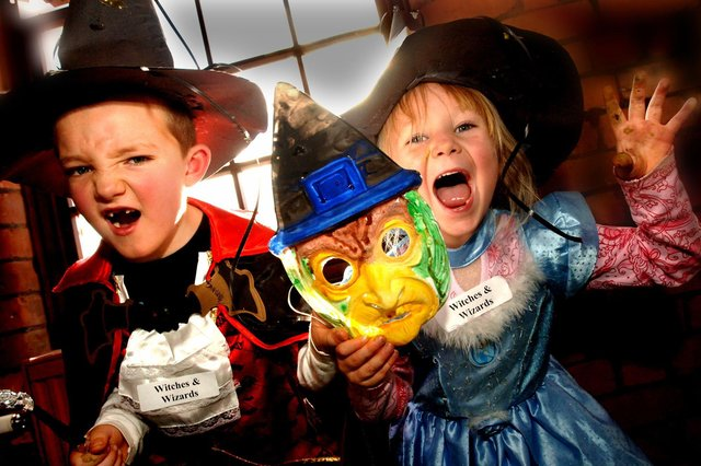 Halloween, including making masks, is the theme of many events and activities offering fun for the kids during school half-term in Mansfield. (PHOTO BY: Frank Orrell)