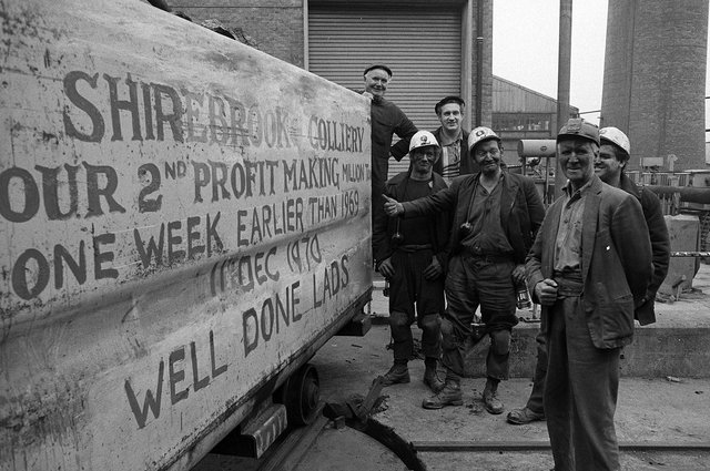 Shirebrook Colliery's 1,000,000 tonnes in 1970, beating 1969's record.