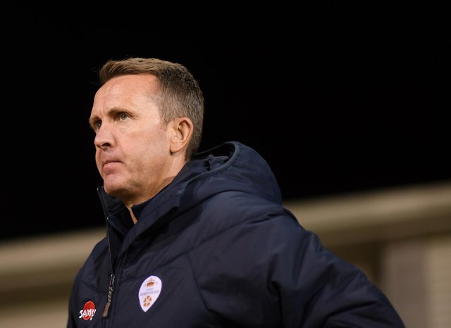 Dominic Cork, Head Coach of Derbyshire, wants his side to improve with the ball. (Photo by Harry Trump/Getty Images)