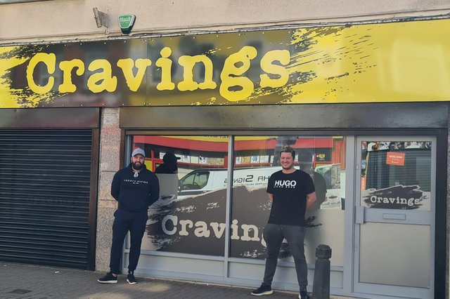 Craig Gibson and Simon King outside their new venture, Cravings, on Outram Street in Sutton.