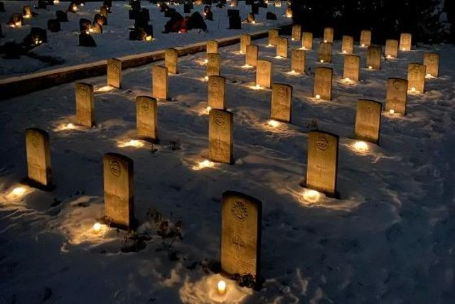 Grav i Lillyhammer hvor britiske soldater fra den norske kampanjen ble gravlagt