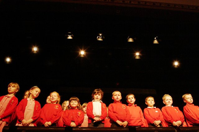 All Saints infant school Huthwaite take to the stage at the Mansfield Music and Drama festival in 2006 at the Verse speaking and drama exams